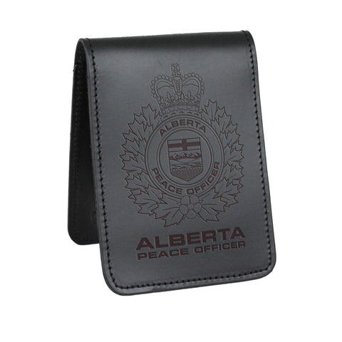 Alberta Peace Officer Notebook Cover - Notebook Covers - Perfect Fit - 911 Duty Gear Canada - Duty Patrol Gear and Gifts. Recessed Leather Badge Wallets and ID Holders, Neck & Belt Badge Holders, Notebook Cover for Evidence, Memo book, Triform Notepads for field interviews.