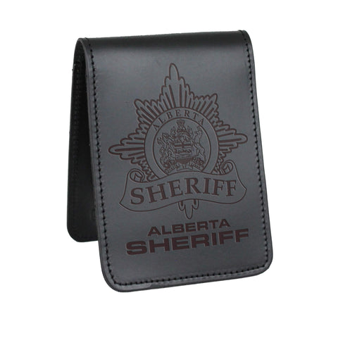 Alberta Sheriffs Notebook Cover - Notebook Covers - Perfect Fit - 911 Duty Gear Canada - Duty Patrol Gear and Gifts. Recessed Leather Badge Wallets and ID Holders, Neck & Belt Badge Holders, Notebook Cover for Evidence, Memo book, Triform Notepads for field interviews.