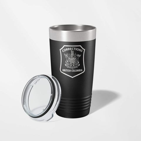 BC Corrections Black Vacuum Insulated Tumbler-JDS-911 Duty Gear Canada