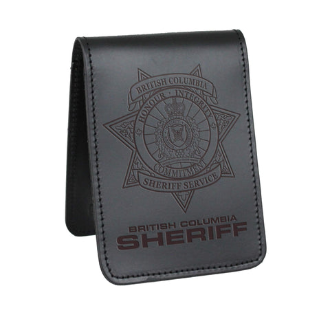 British Columbia Sheriff Notebook Cover - Notebook Covers - Perfect Fit - 911 Duty Gear Canada - Duty Patrol Gear and Gifts. Recessed Leather Badge Wallets and ID Holders, Neck & Belt Badge Holders, Notebook Cover for Evidence, Memo book, Triform Notepads for field interviews.