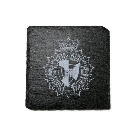 CBSA Stone Slate Coasters - Coaster - 911 Duty Gear - 911 Duty Gear Canada - Duty Patrol Gear and Gifts. Recessed Leather Badge Wallets and ID Holders, Neck & Belt Badge Holders, Notebook Cover for Evidence, Memo book, Triform Notepads for field interviews.