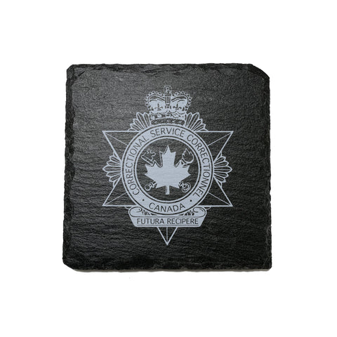 Canada Corrections Stone Slate Coasters - Coaster - 911 Duty Gear - 911 Duty Gear Canada - Duty Patrol Gear and Gifts. Recessed Leather Badge Wallets and ID Holders, Neck & Belt Badge Holders, Notebook Cover for Evidence, Memo book, Triform Notepads for field interviews.