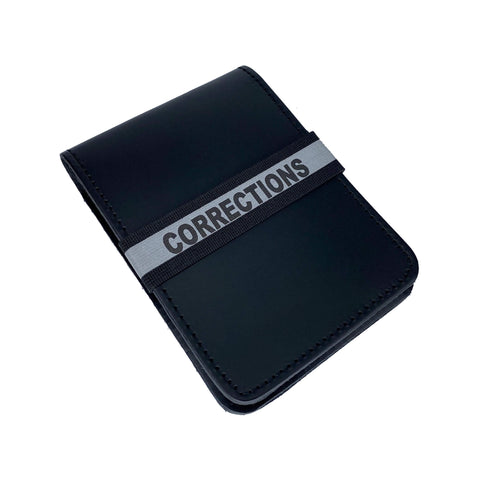 Corrections Notebook ID Band - Notebook Band - Notebands - 911 Duty Gear Canada - Duty Patrol Gear and Gifts. Recessed Leather Badge Wallets and ID Holders, Neck & Belt Badge Holders, Notebook Cover for Evidence, Memo book, Triform Notepads for field interviews.