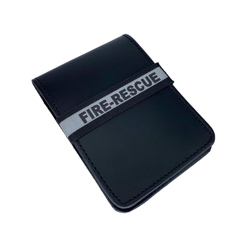 Fire-Rescue Notebook ID Band - Notebook Band - Notebands - 911 Duty Gear Canada - Duty Patrol Gear and Gifts. Recessed Leather Badge Wallets and ID Holders, Neck & Belt Badge Holders, Notebook Cover for Evidence, Memo book, Triform Notepads for field interviews.