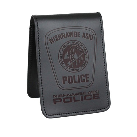 Nishnawabe Aski Police Notebook Cover - Notebook Covers - Perfect Fit - 911 Duty Gear Canada - Duty Patrol Gear and Gifts. Recessed Leather Badge Wallets and ID Holders, Neck & Belt Badge Holders, Notebook Cover for Evidence, Memo book, Triform Notepads for field interviews.