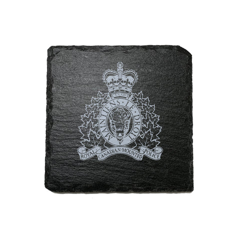 RCMP Stone Slate Coasters - Coaster - 911 Duty Gear - 911 Duty Gear Canada - Duty Patrol Gear and Gifts. Recessed Leather Badge Wallets and ID Holders, Neck & Belt Badge Holders, Notebook Cover for Evidence, Memo book, Triform Notepads for field interviews.