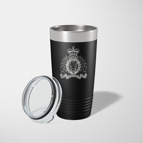 RCMP Black Vacuum Insulated Tumbler-JDS-911 Duty Gear Canada