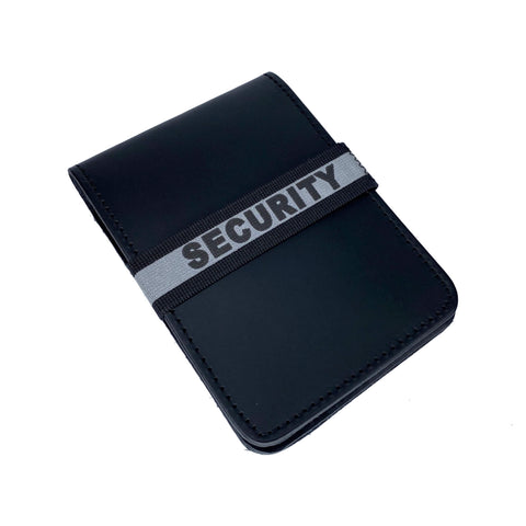Security Notebook ID Band - Notebook Band - Notebands - 911 Duty Gear Canada - Duty Patrol Gear and Gifts. Recessed Leather Badge Wallets and ID Holders, Neck & Belt Badge Holders, Notebook Cover for Evidence, Memo book, Triform Notepads for field interviews.