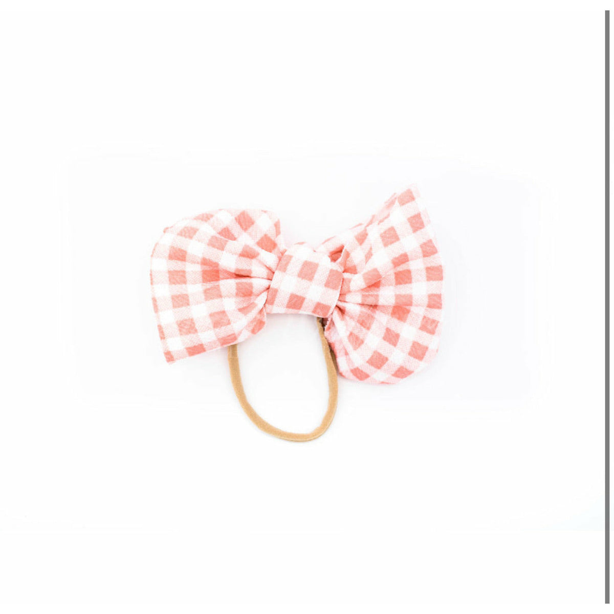 "pink gingham ""julia"" bow on nylon"