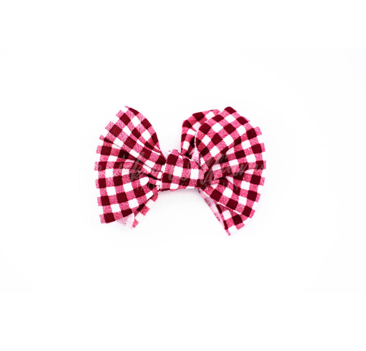 "red gingham ""julia"" regular clip"