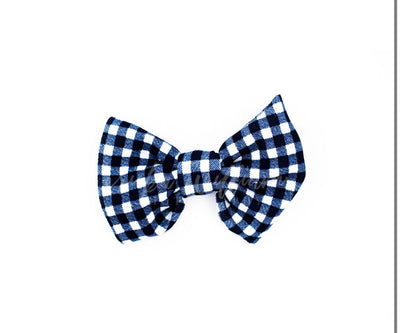 "navy gingham ""julia"" regular clip"