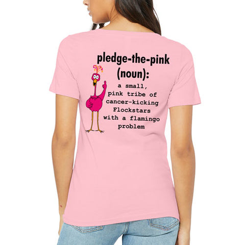 Pledge the Pink Definition V-neck