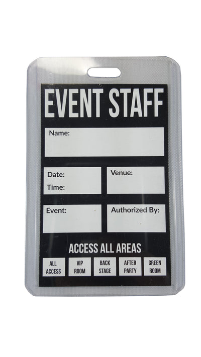 ID & Document Holders - Event Staff Lanyard With Clear Badge Holder And Party Pass.