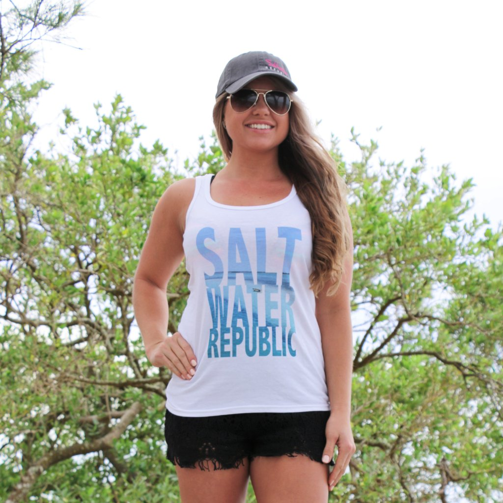 Ladies Beach Graphic Tank
