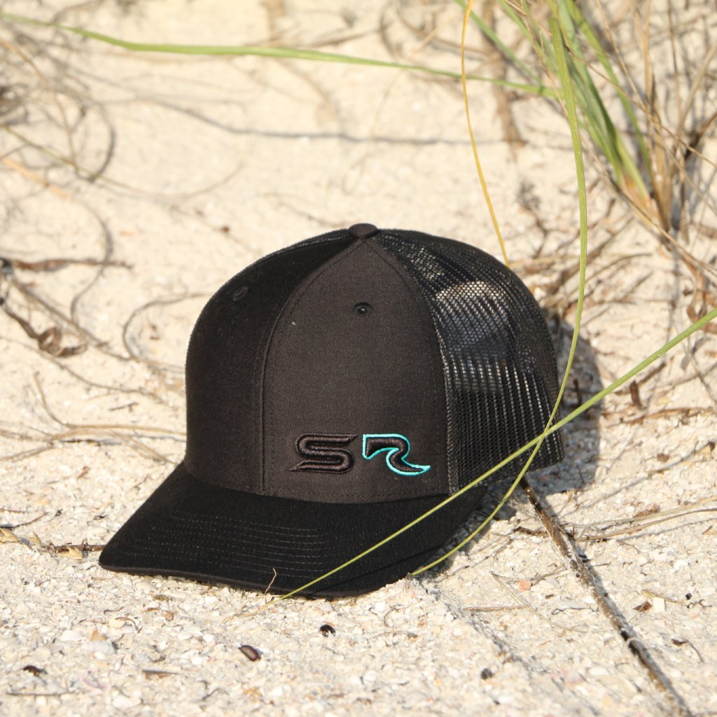 Classic SR Fitted Hat - 3D Black & Teal