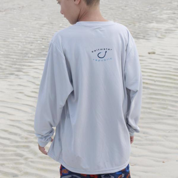 Youth - R Performance Shirt - Silver & Blue Scales