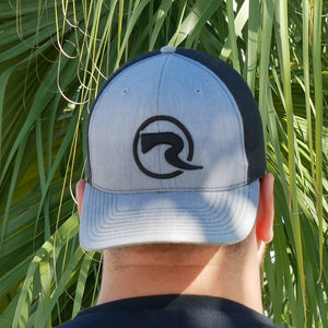 R Trucker Hat - 3D Black & Heather Grey