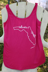 Ladies FL Outline Tank - Pink