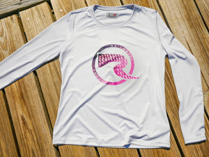 Ladies Scales Performance Shirt - Silver & Pink