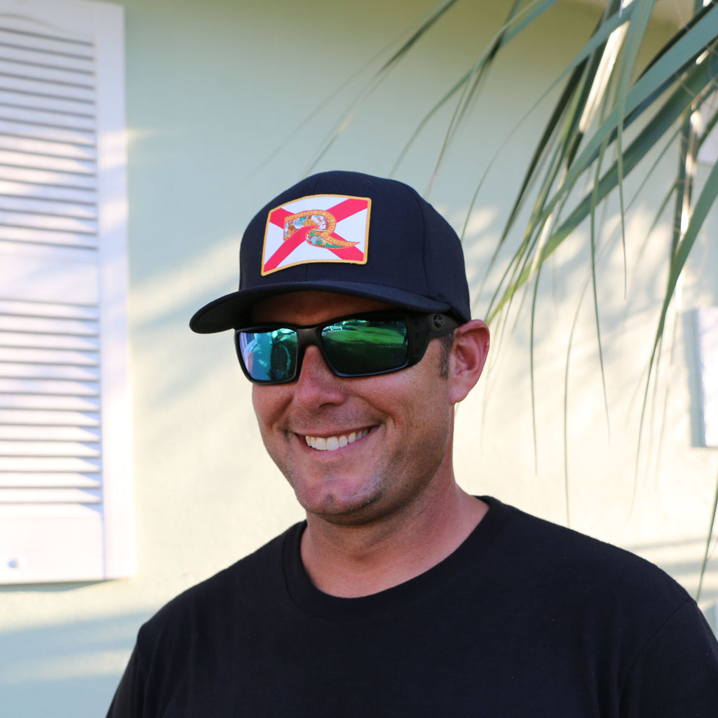 Florida Flag Hat - Black Fitted FlexFit