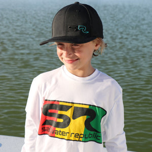 Youth Fitted Hat - 3D Black & Teal