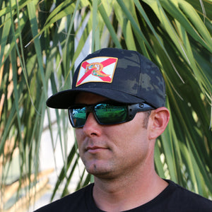 Florida Flag Hat - Camo Fitted Flexfit