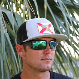 Florida Flag Hat - Grey & Black Flatbill Snapback