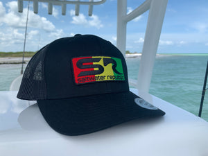 SR Rasta Patch Trucker Hat - Black