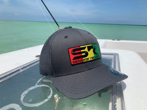 SR Rasta Patch Flexfit Hat - Grey
