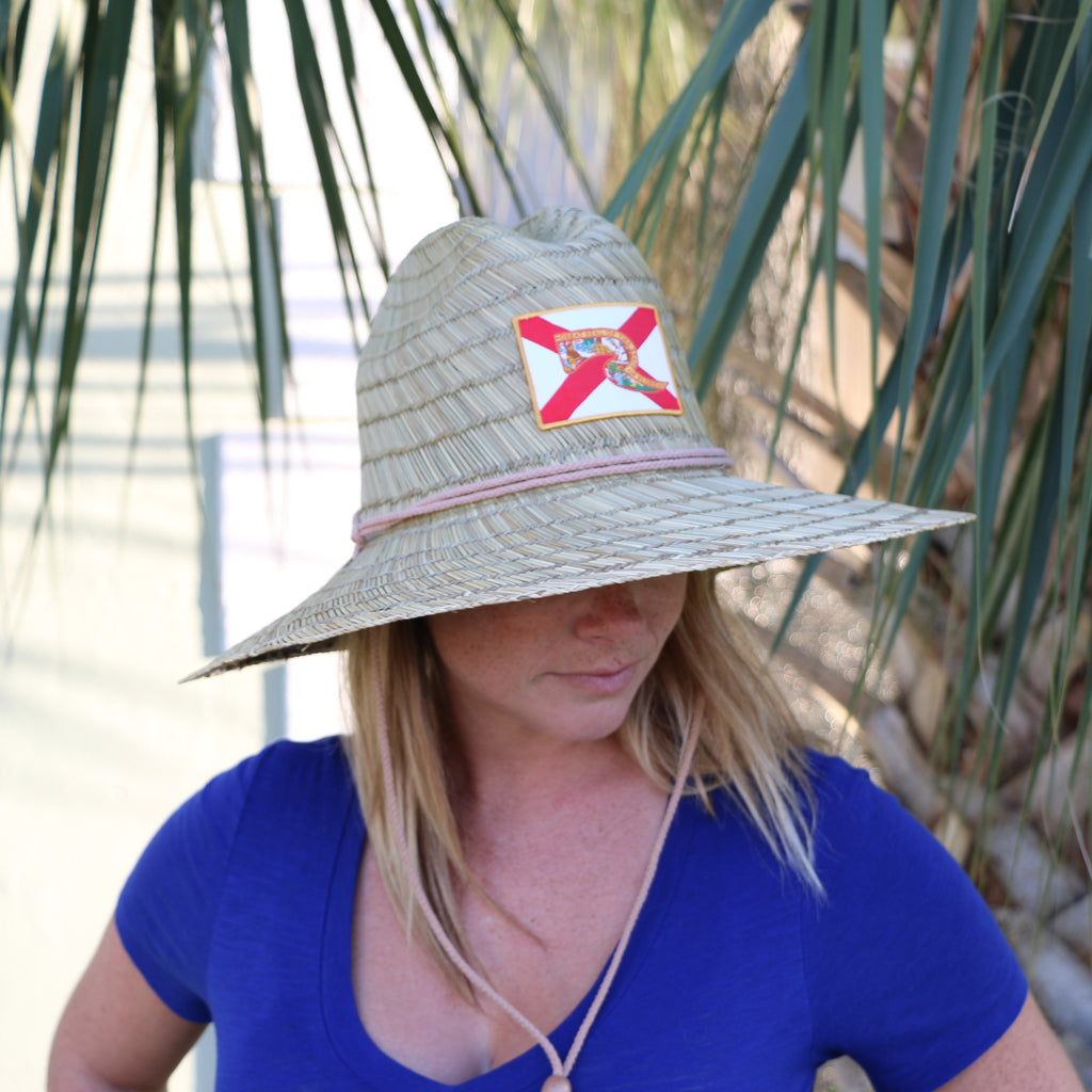 Florida Flag Lifeguard Straw Hat