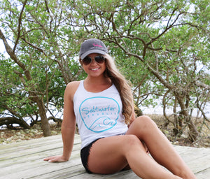 Ladies Waves Racerback Tank