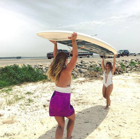 Bodega Girls Carrying Paddle Board