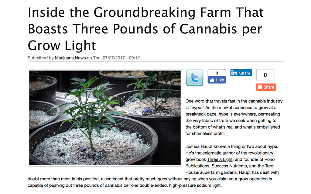 420 Intel - Inside the Groundbreaking Farm That Boasts Three Pounds of Cannabis per Grow Light