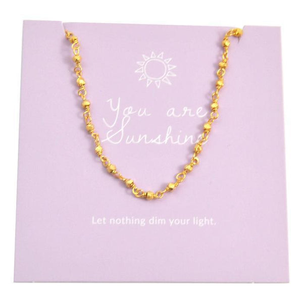 GOLD WISH CHOKER SUNSHINE