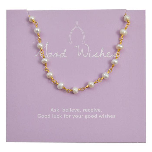 GOOD WISHES CHOKER PEARL GOLD
