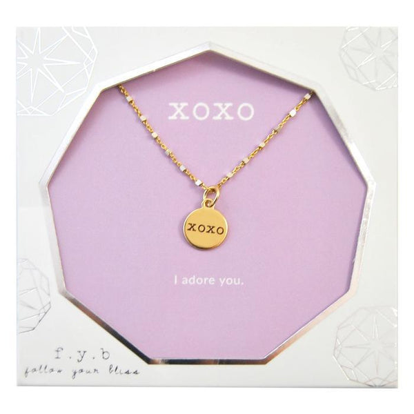 XOXO SHIMMER NECKLACE 18`