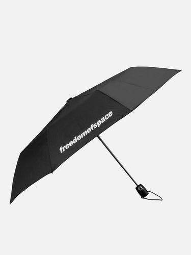 Black Logo Folding Umbrella