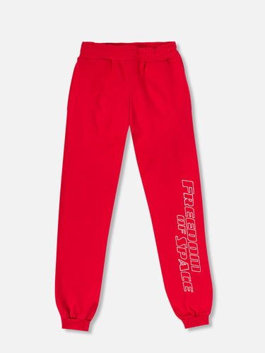 Freedom of Space Lounge Pants Red