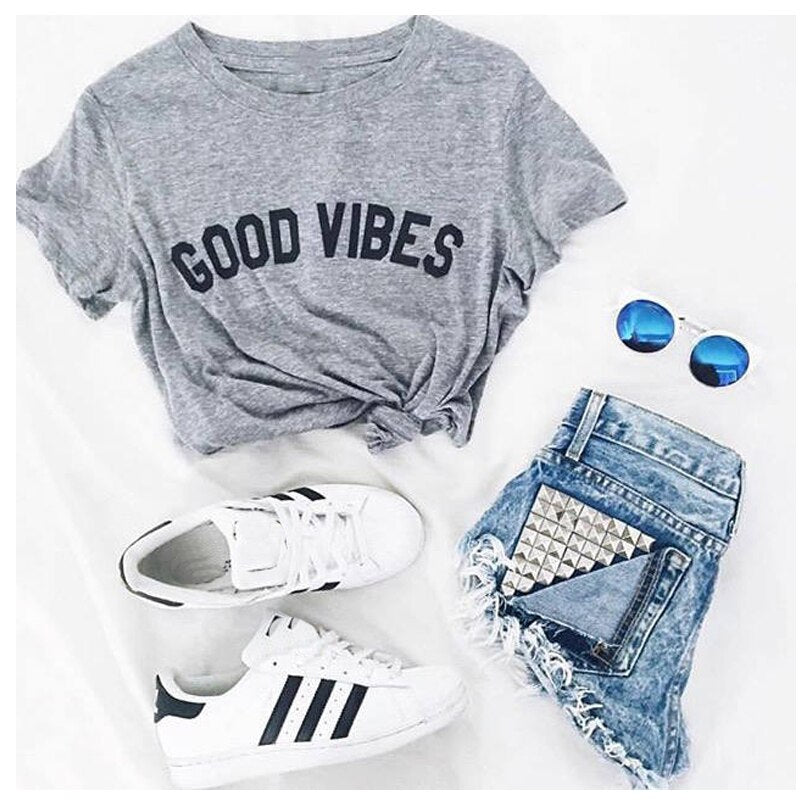 GOOD VIBES T-SHIRT - Spiritual Swag