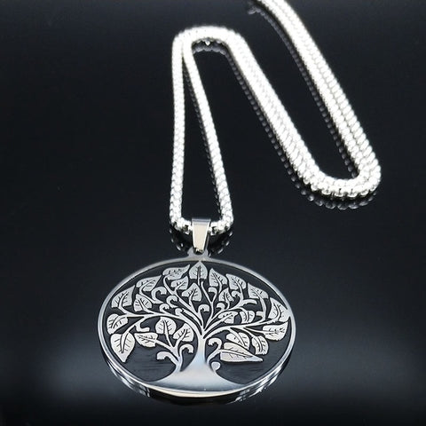 TREE OF LIFE NECKLACE STAINLESS STEEL - Spiritual Swag