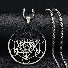 Load image into Gallery viewer, DIVINE GEOMETRY NECKLACE STAINLESS STEEL - Spiritual Swag