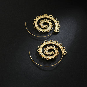SOLAR HOOP EARRINGS - Spiritual Swag