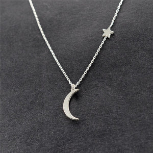 STAR & MOON NECKLACE - Spiritual Swag