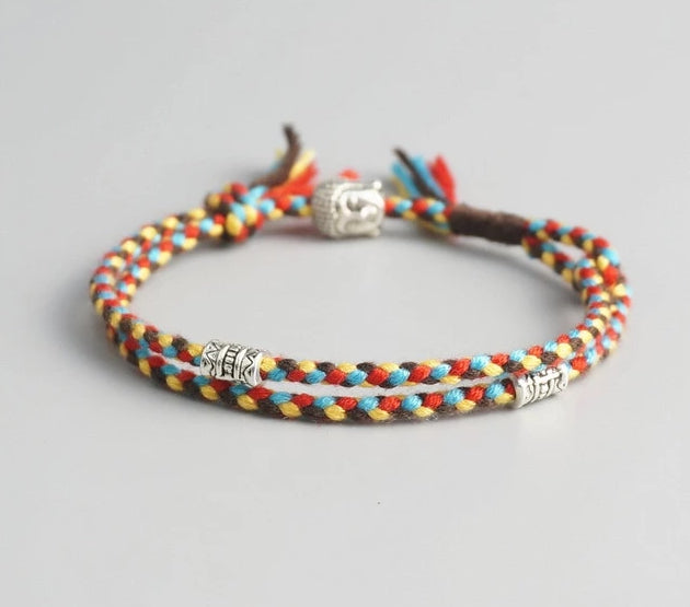 TIBETAN BUDDHIST BUDDHA HEAD BRACELET FOR GOOD FORTUNE - Spiritual Swag