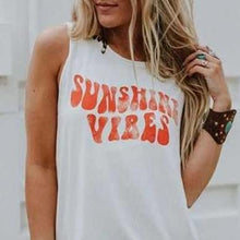 Load image into Gallery viewer, SUNSHINE VIBES MUSCLE TEE - Spiritual Swag