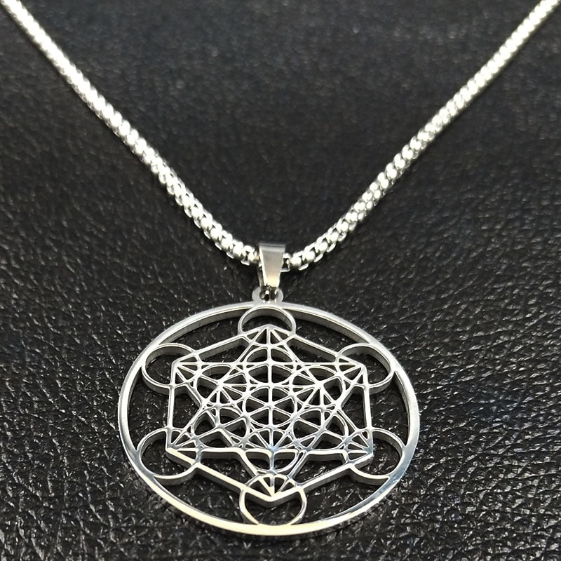 DIVINE GEOMETRY NECKLACE STAINLESS STEEL - Spiritual Swag