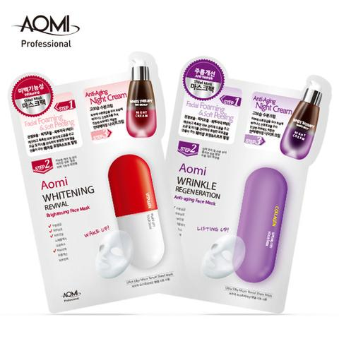 Perfect skin care with AOMI 3-step doctor smart face sheet mask pack