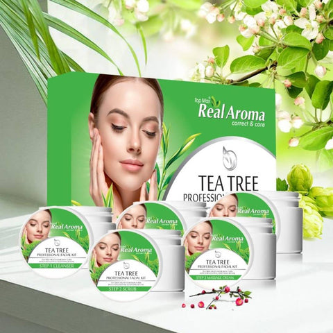 Topmax Real Aroma Tea Tree Professional Facial Kit 5 in 1