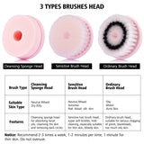 3 In 1 Electric Facial Cleanser Brush Face