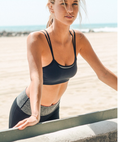 Black Double Layer Sports / Yoga Bra